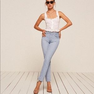 Reformation French Skinny Back Seam Jean